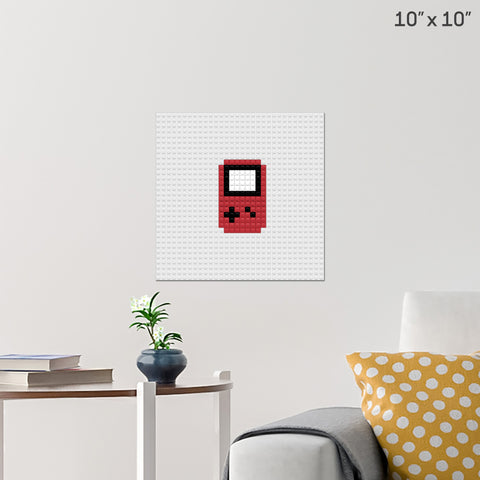 Game Boy Brick Poster