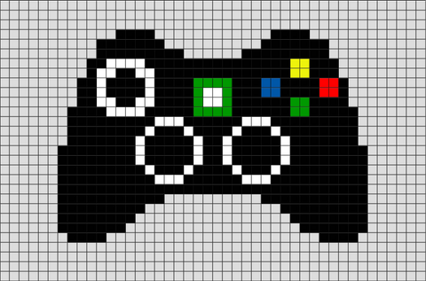 Game Controller Pixel Art