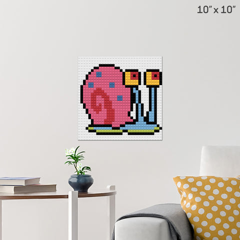 Gary the Snail Brick Poster