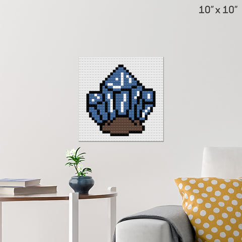Gemstone Brick Poster