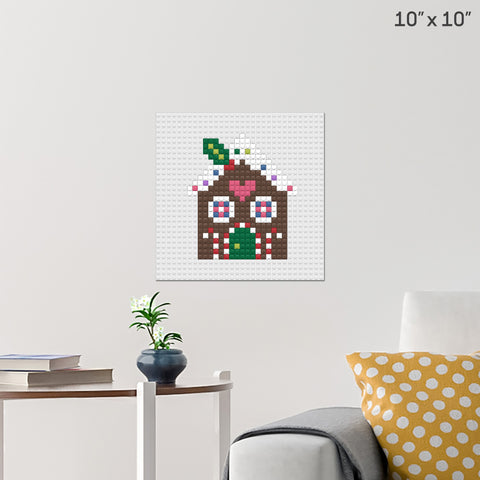 Gingerbread House Brick Poster