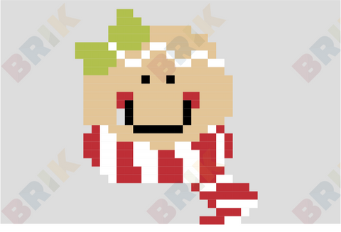 Gingerbread Man Pixel Art
