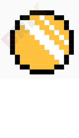 Gold Coin Pixel Art