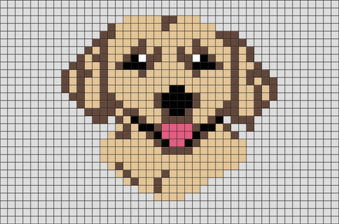 Golden Retriever Pixel Art