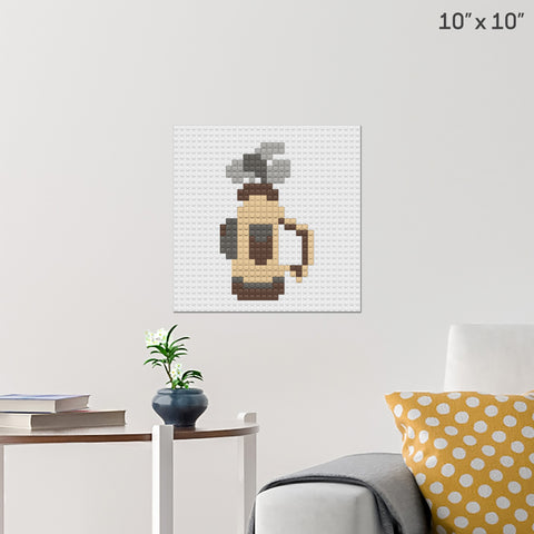 Golf Clubs Brick Poster