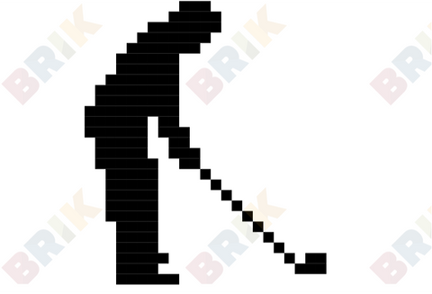 Golfer's Day Pixel Art
