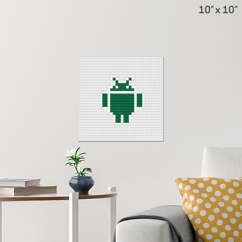Google Android Brick Poster