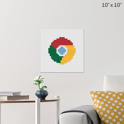 Google Chrome Brick Poster