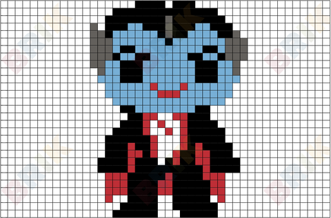 Grandpa Munster Pixel Art