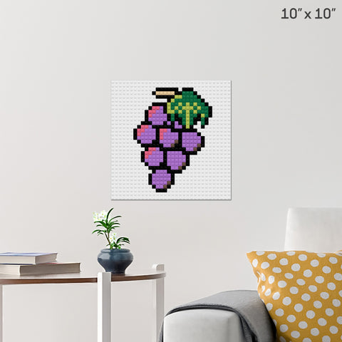 Grapes Brick Poster