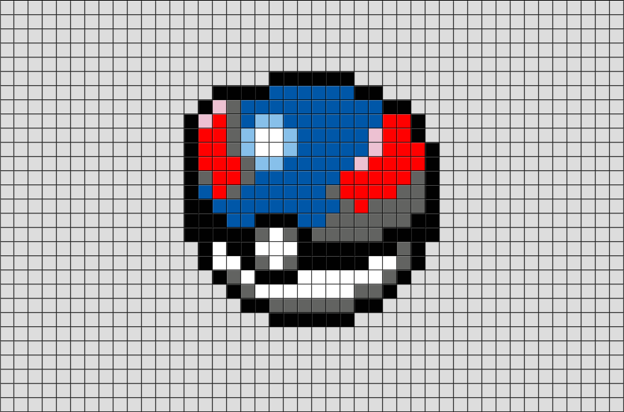 Great Ball Pixel Art Brik