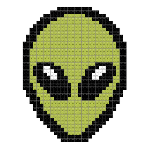 Green Alien Head