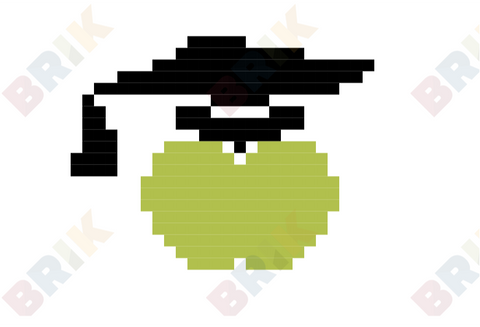 Green Apple Pixel Art