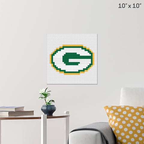 Green Bay Packers Brick Poster
