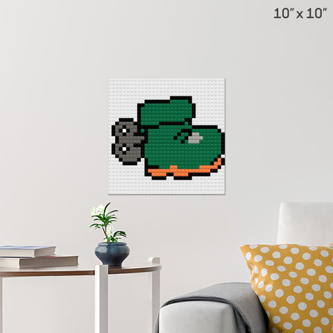 Green Bootsticker Brick Poster