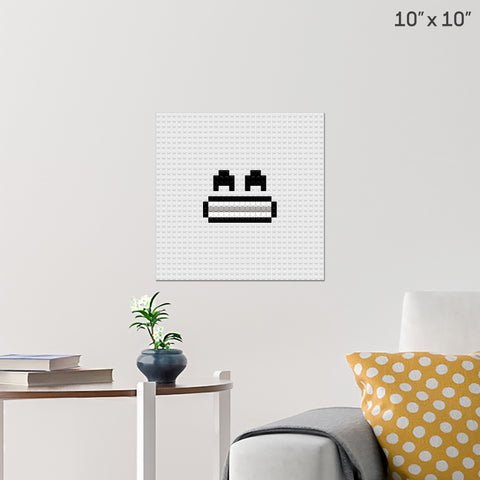 Grin Brick Poster