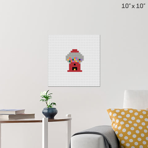 Gumball Machine Brick Poster