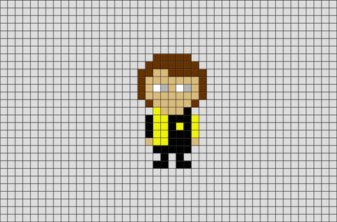 Harry Potter Cedric Diggory Pixel Art
