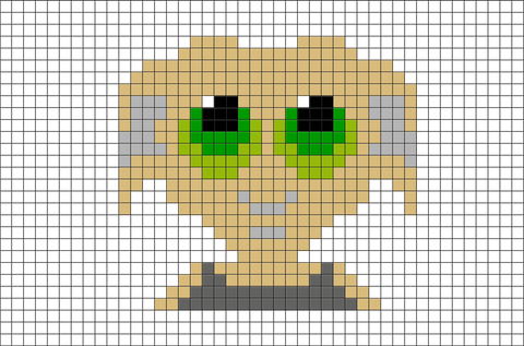 Harry Potter Dobby Pixel Art