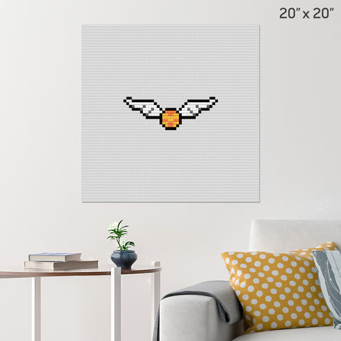 Harry Potter Golden Snitch Brick Poster