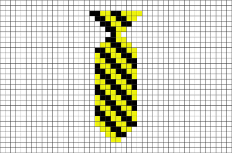 Harry Potter House Ties Hufflepuff Pixel Art