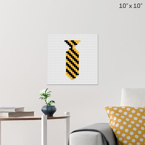 Harry Potter House Ties Hufflepuff Brick Poster