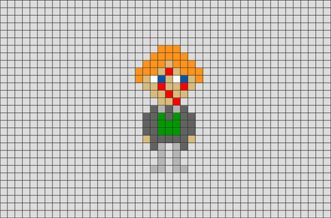 Harry Potter Professor Remus Lupin Pixel Art