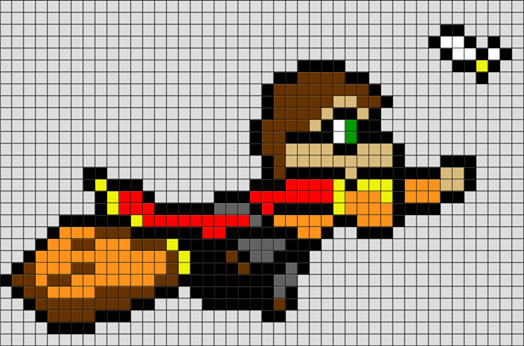 Harry Potter Quidditch Pixel Art