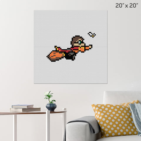 Harry Potter Quidditch Brick Poster