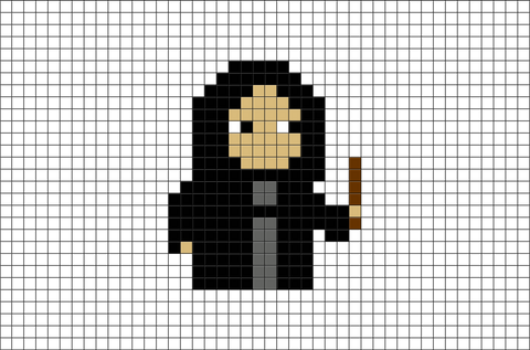 Harry Potter Severus Snape Pixel Art