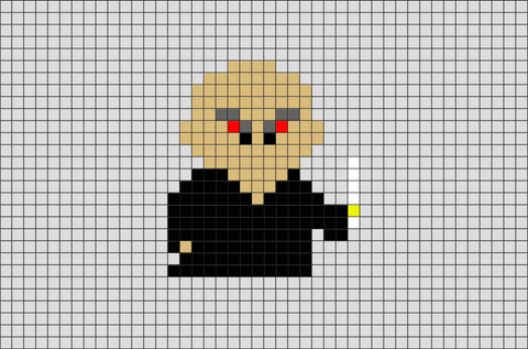 Harry Potter Voldemort Pixel Art