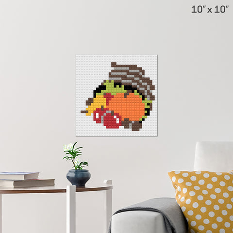 Harvest Basket Brick Poster