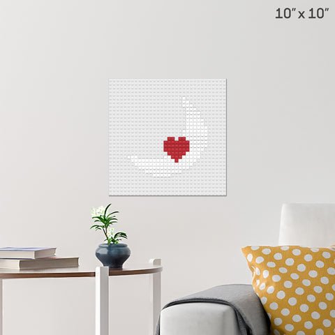 Heart and Moon Brick Poster