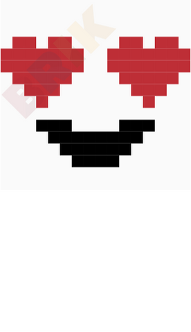 Heart Eyes Pixel Art