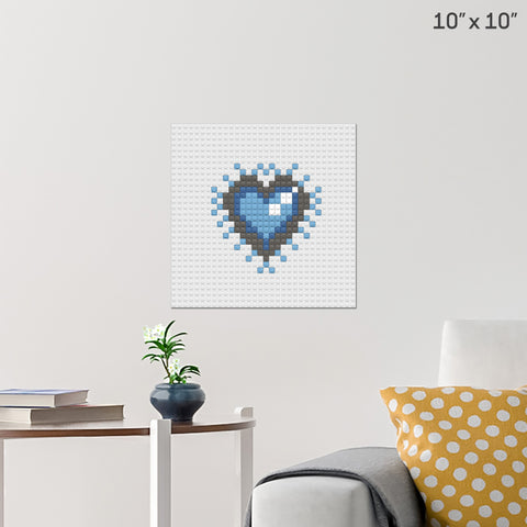 Heart of the Ocean Brick Poster