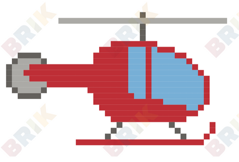 Helicopter Pixel Art