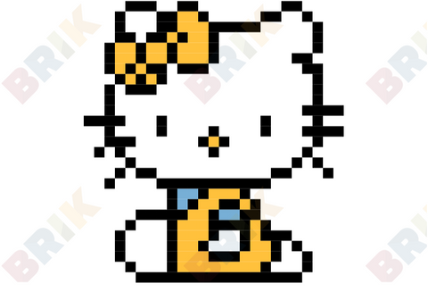 Hello Kitty Pixel Art