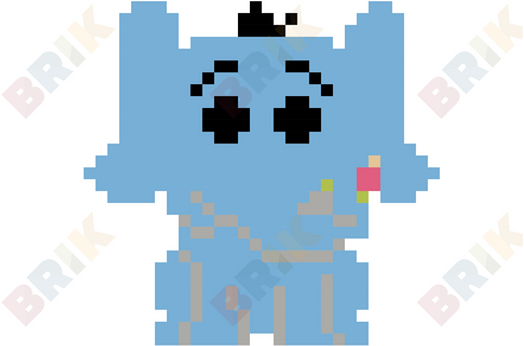 Horton the Elephant Pixel Art