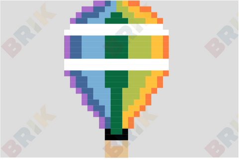 Hot Air Balloon Day Pixel Art