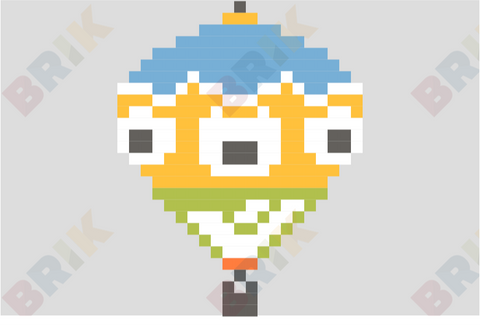 Hot Air Balloon Pixel Art