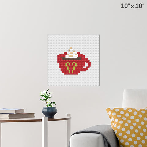 Hot Choco with Whip Cream Brick Poster