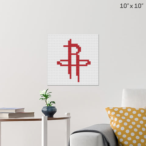 Houston Rockets Brick Poster