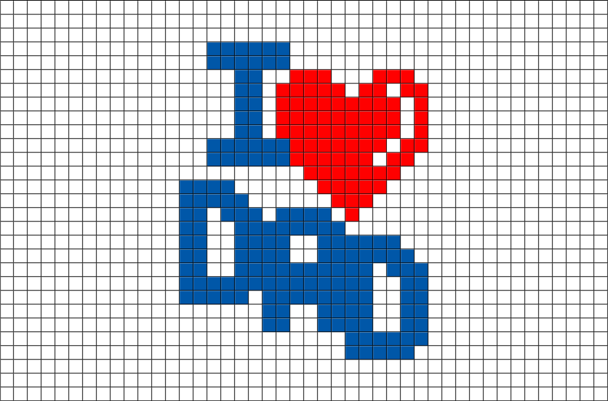 i love dad pixel art  u2013 brik