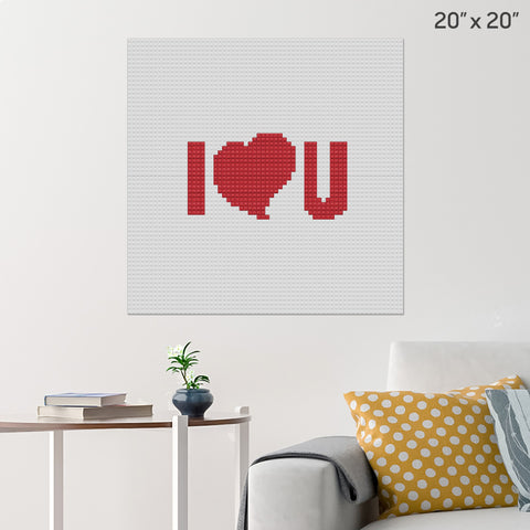 I Love You Brick Poster