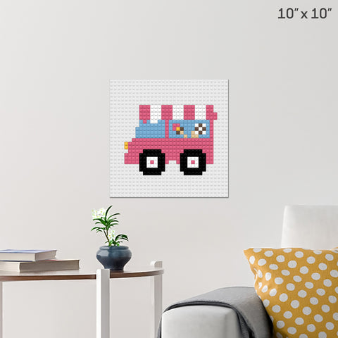Ice Cream Truck Brick Poster