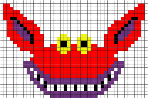 Ickis Ahh Real Monsters Pixel Art