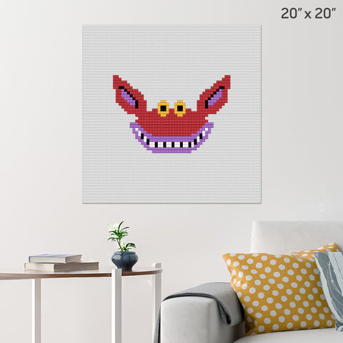 Ickis Ahh Real Monsters Brick Poster