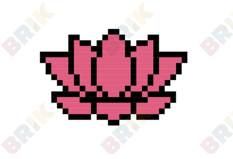 Indian Lotus Pixel Art