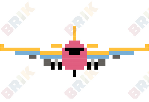 International Civil Aviation Day Pixel Art