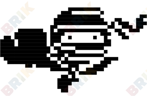 International Ninja Day Pixel Art